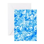 Blue Water texture Greeting Cards (Pk of 20)