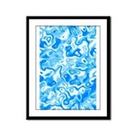 Blue Water texture Framed Panel Print