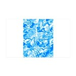 Blue Water texture 35x21 Wall Decal