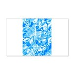 Blue Water texture 20x12 Wall Decal