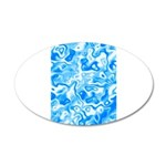 Blue Water texture 35x21 Oval Wall Decal