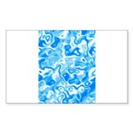 Blue Water texture Sticker (Rectangle 50 pk)