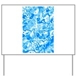 Blue Water texture Yard Sign