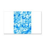 Blue Water texture Rectangle Car Magnet