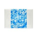 Blue Water texture Rectangle Magnet