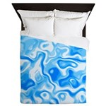 Blue Water texture Queen Duvet