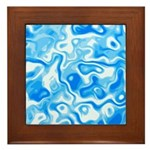 Blue Water texture Framed Tile
