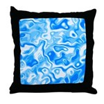 Blue Water texture Throw Pillow