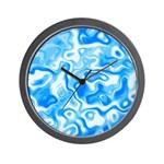 Blue Water texture Wall Clock