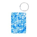 Blue Water texture Aluminum Photo Keychain