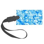 Blue Water texture Large Luggage Tag