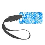 Blue Water texture Small Luggage Tag