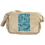 Blue Water texture Messenger Bag