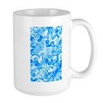 Blue Water texture Large Mug