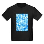 Blue Water texture Kids Dark T-Shirt
