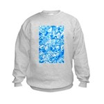 Blue Water texture Kids Sweatshirt