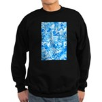 Blue Water texture Sweatshirt (dark)