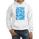 Blue Water texture Hooded Sweatshirt