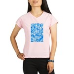Blue Water texture Performance Dry T-Shirt