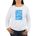 Blue Water texture Women's Long Sleeve T-Shirt