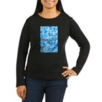 Blue Water texture Women's Long Sleeve Dark T-Shir