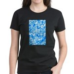 Blue Water texture Women's Dark T-Shirt