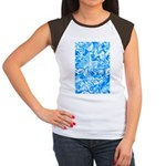 Blue Water texture Women's Cap Sleeve T-Shirt