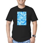 Blue Water texture Men's Fitted T-Shirt (dark)