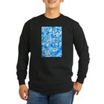 Blue Water texture Long Sleeve Dark T-Shirt