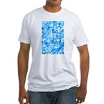Blue Water texture Fitted T-Shirt