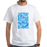 Blue Water texture White T-Shirt