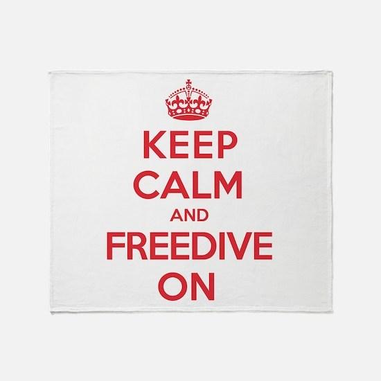 Keep Calm Freedive Throw Blanket