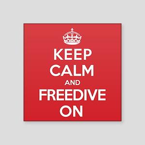 "Keep Calm Freedive Square Sticker 3"" x 3"""