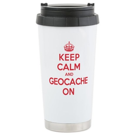 Keep Calm Geocache Stainless Steel Travel Mug