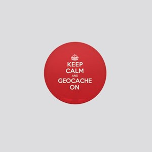 Keep Calm Geocache Mini Button