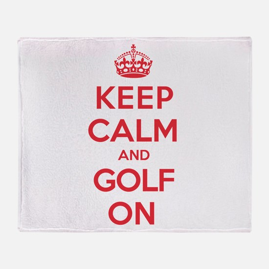 Keep Calm Golf Throw Blanket