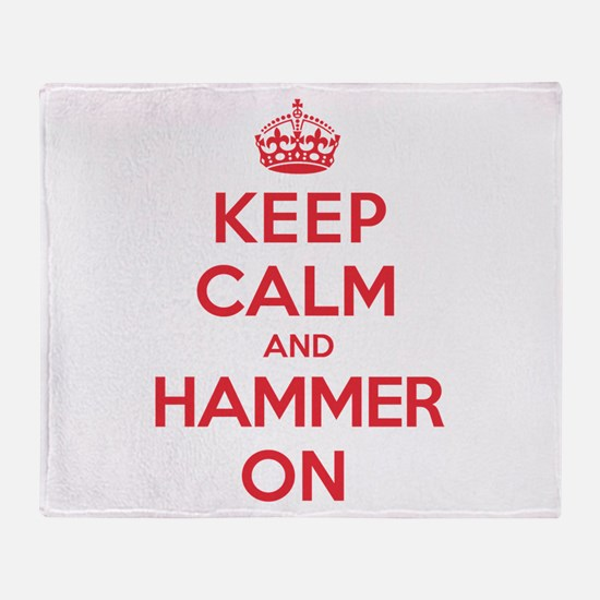 Keep Calm Hammer Throw Blanket