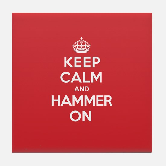 Keep Calm Hammer Tile Coaster