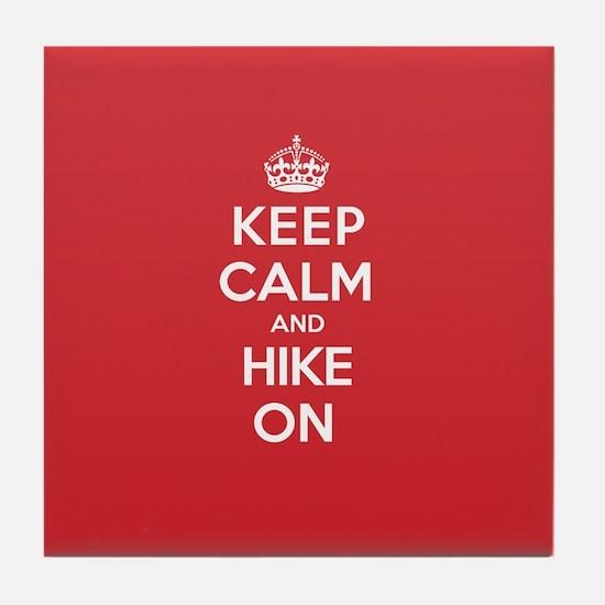 Keep Calm Hike Tile Coaster