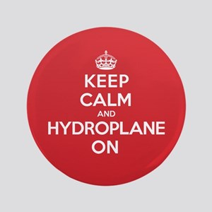 "Keep Calm Hydroplane 3.5"" Button"