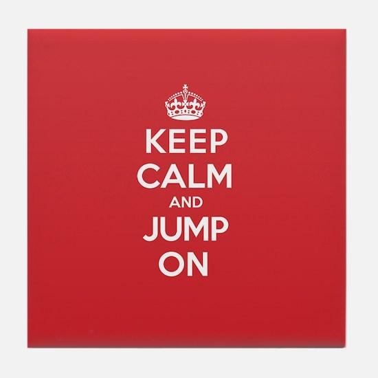 Keep Calm Jump Tile Coaster