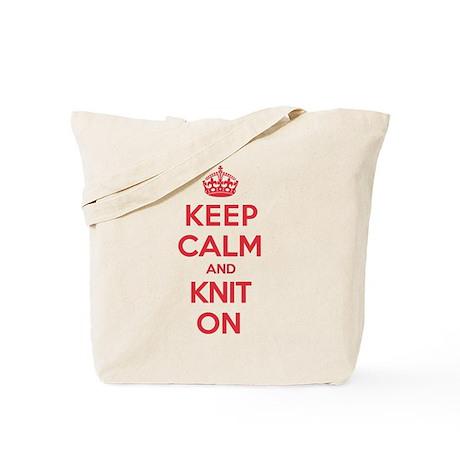 Keep Calm Knit Tote Bag