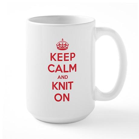 Keep Calm Knit Large Mug