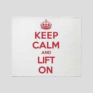 Keep Calm Lift Throw Blanket