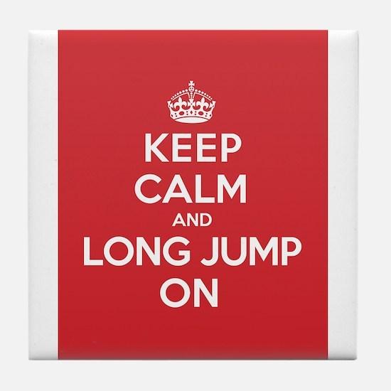 Keep Calm Long Jump Tile Coaster