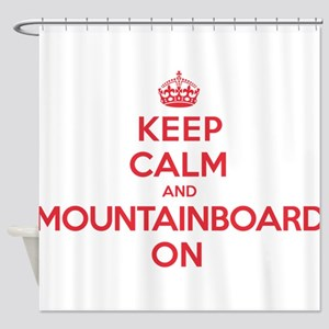 Keep Calm Mountainboard Shower Curtain