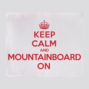Keep Calm Mountainboard Throw Blanket