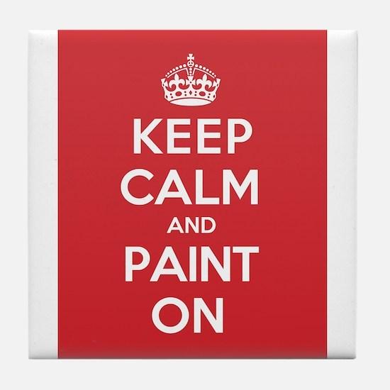 Keep Calm Paint Tile Coaster