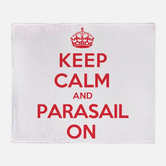 Keep Calm Parasail Throw Blanket
