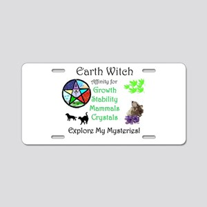 Earth Witch Aluminum License Plate